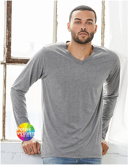 Unisex Jersey Long Sleeve V-Neck T-Shirt  G_CV3425