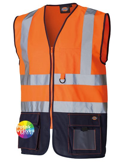 Two Tone High Visible Bodywarmer  G_DK22021