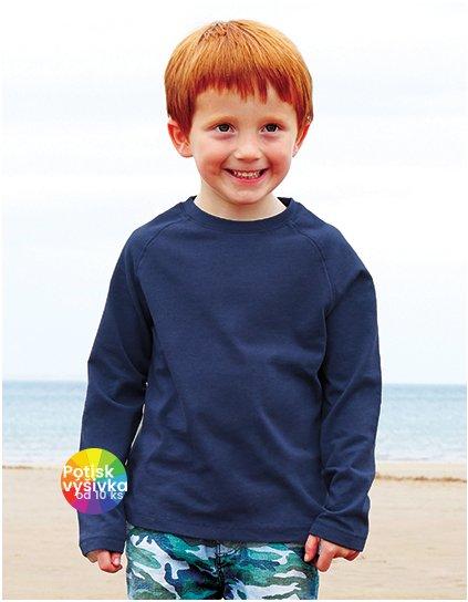 Kids` Long Sleeve Raglan T  G_HM46