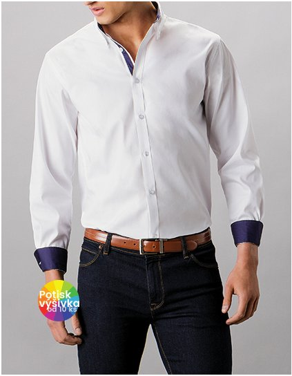 Tailored Fit Contrast Premium Oxford Shirt Button Down  G_K190