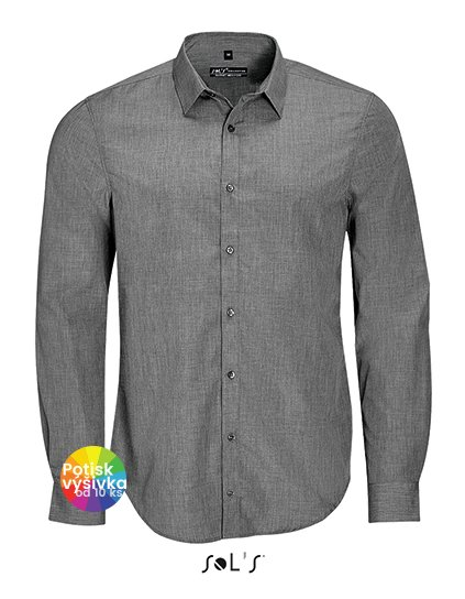 Men`s Long Sleeve Poplin Shirt Barnet  G_L01428