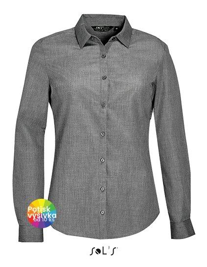 Women`s Long Sleeve Poplin Shirt Barnet  G_L01429
