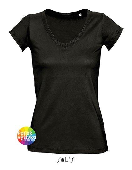 Women`s V-Neck T-Shirt Mild  G_L145