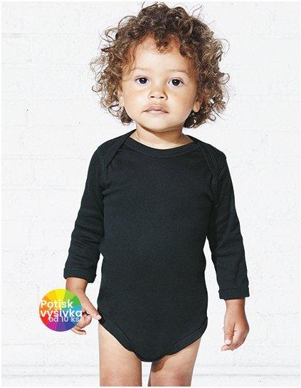 Infant Fine Jersey Long Sleeve Bodysuit  G_LA4411
