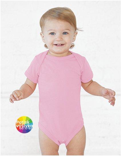 Infant Fine Jersey Short Sleeve Bodysuit  G_LA4424
