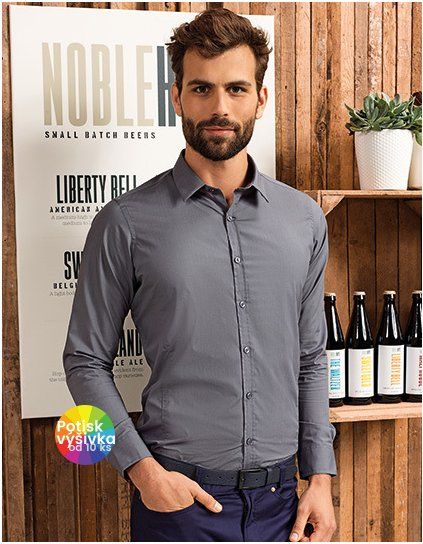 Men`s Long Sleeve Fitted Friday Bar Shirt  G_PW214
