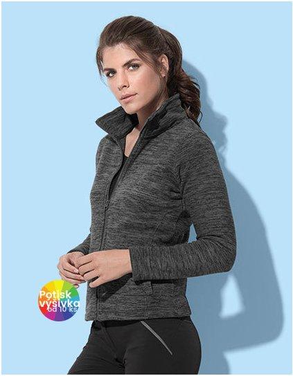 Active Melange Fleece Jacket for women  G_S5140