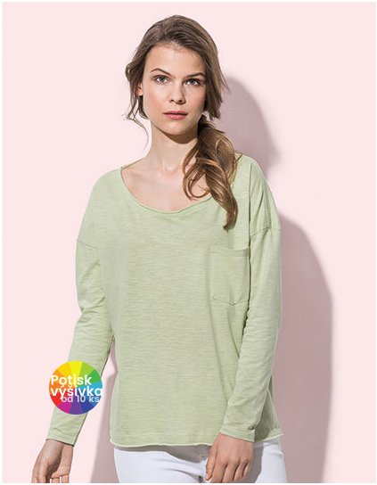 Sharon Oversized Slub Long Sleeve for women  G_S9560