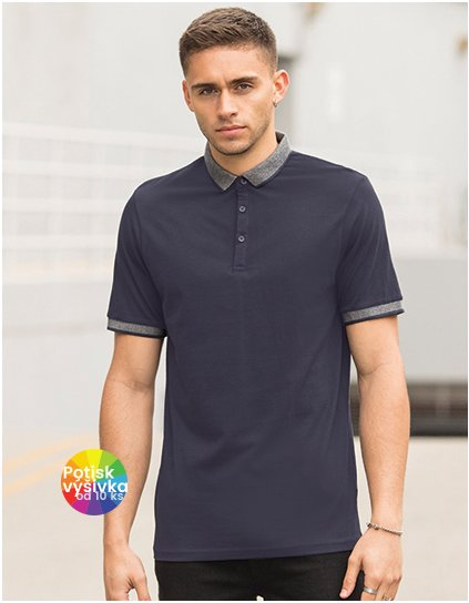 Men`s Fashion Polo with Jacquard Contrast  G_SFM441
