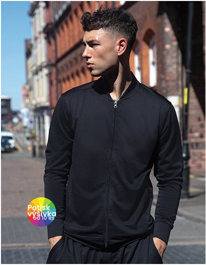 Track Top With Baseball Collar  G_TL558