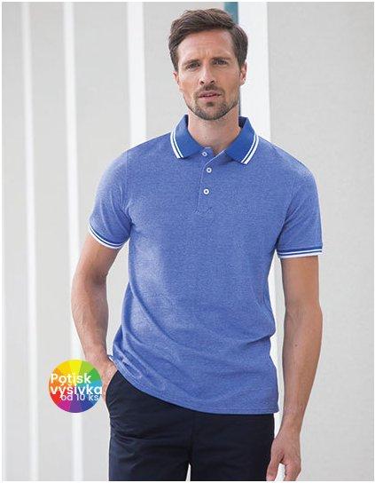 Men`s 2-Tone Pique Tipped Polo Shirt  G_W151