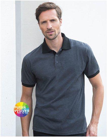 Contrast Tri Blend Polo Shirt  G_W490