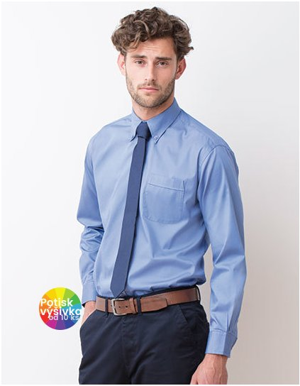 Men`s Long Sleeved Pinpoint Oxford Shirt  G_W550
