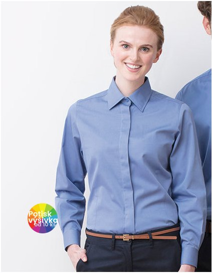Ladies` Long Sleeved Pinpoint Oxford Shirt  G_W551
