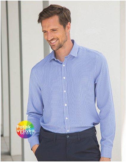 Men`s Gingham Cofrex/Pufy Wicking Long Sleeved Shirt  G_W580