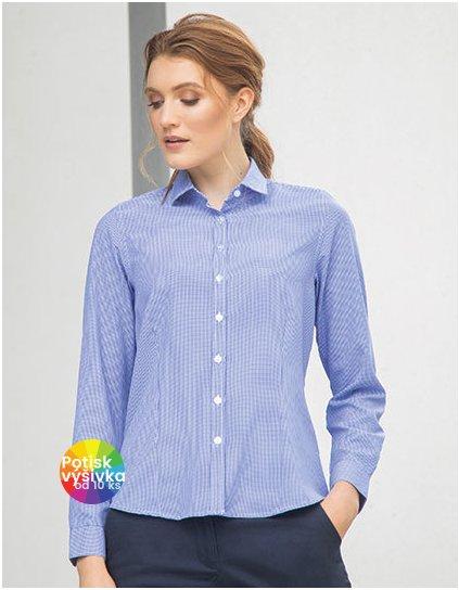 Ladies` Gingham Cofrex/Pufy Wicking Long Sleeved Shirt  G_W581