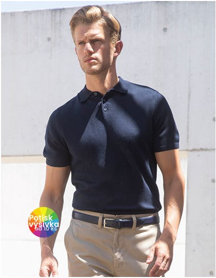 Men`s Knitted Short Sleeved Polo  G_W716