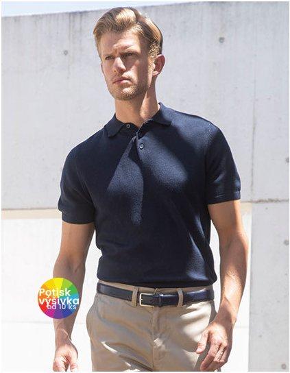 Men`s Knitted Short Sleeved Polo  G_W716