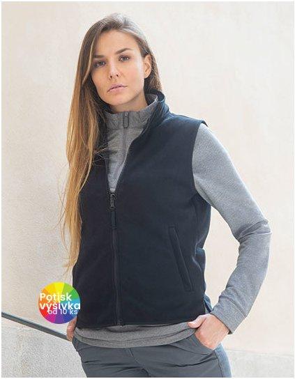 Ladies` Sleeveless Microfleece Jacket  G_W856