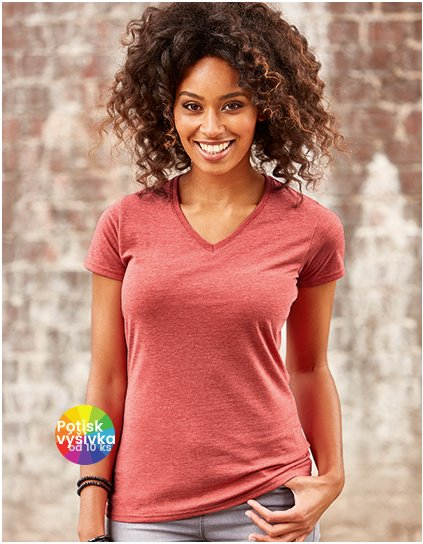 Ladies`  V-Neck HD T  G_Z166F