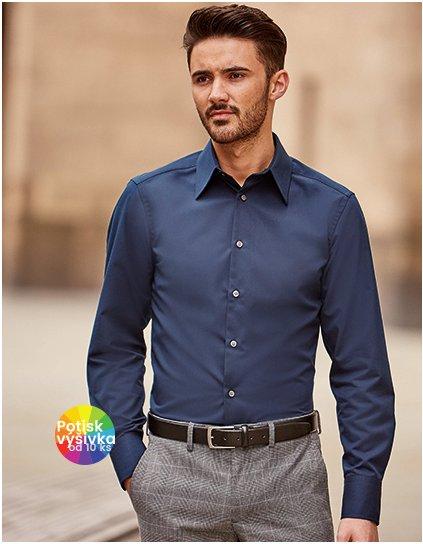 Men`s Long Sleeve Fitted Tencel® Shirt  G_Z954