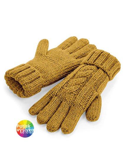 Cable Knit Melange Gloves  G_CB497
