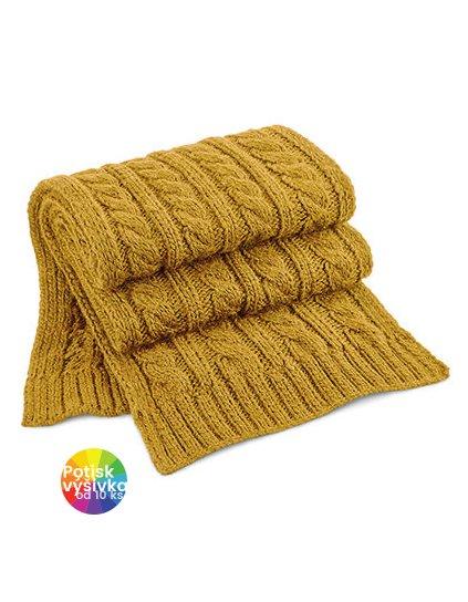 Cable Knit Melange Scarf  G_CB499