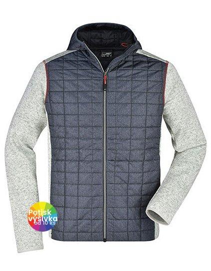 Men's Knitted Hybrid Jacket  G_JN772