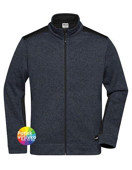 Men's Knitted Workwear Fleece Jacket -STRONG-  G_JN862