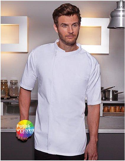 Short-Sleeve Throw-Over Chef Shirt Basic  G_KY122