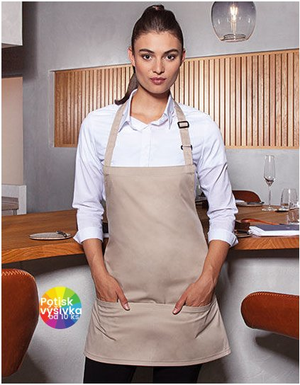 Short Bib Apron Basic with Buckle and Pocket  G_KY123