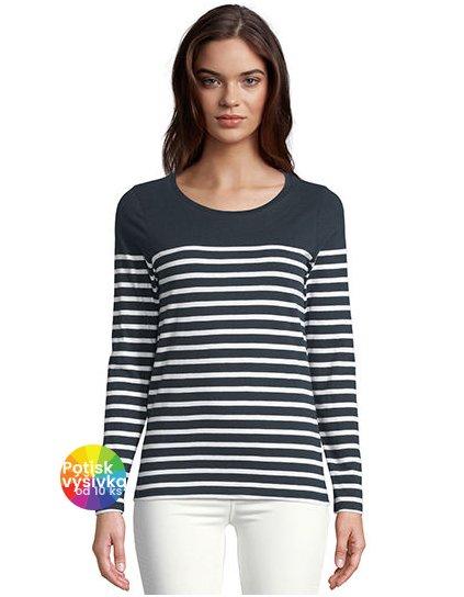 Women´s Long Sleeve Striped T-Shirt Matelot  G_L03100