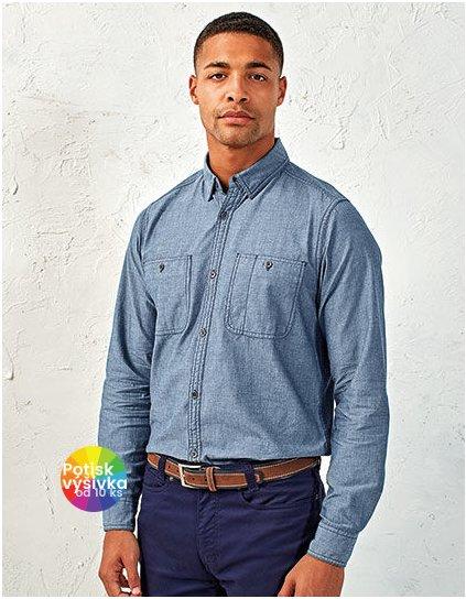 Men`s Organic Chambray Fairtrade Long Sleeve Shirt  G_PW247