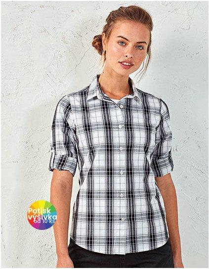 Ginmill Check Womens Long Sleeve Cotton Shirt  G_PW354