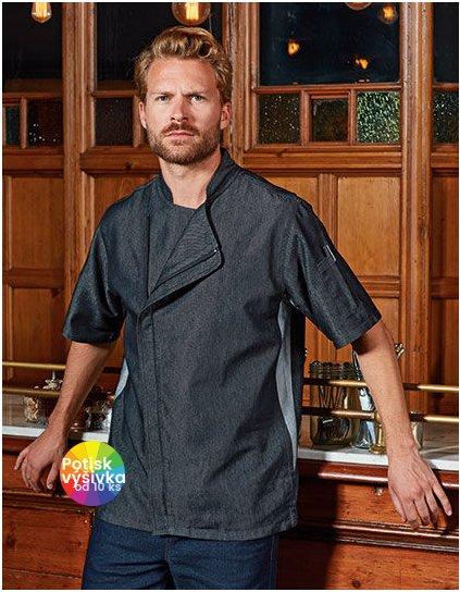 Chefs Zip-Close Short Sleeve Jacket  G_PW906