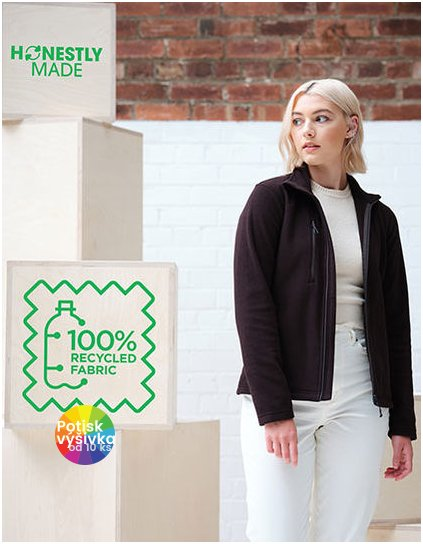 Honestly Made Recycled Womens Full Zip Fleece  G_RG6280