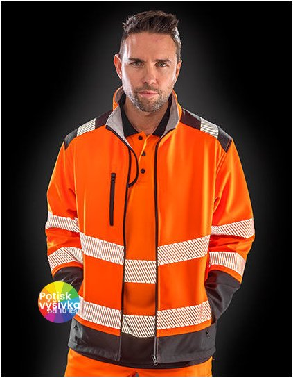 Printable Ripstop Safety Softshell Jacket  G_RT476