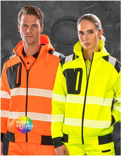 Recycled Robust Zipped Safety Hoody  G_RT503