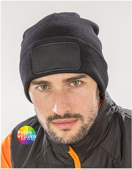 Recycled Double Knit Printers Beanie  G_RT927