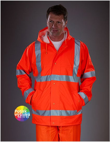 Hi-Vis Soft Flex Breathable Rain Jacket  G_YK450