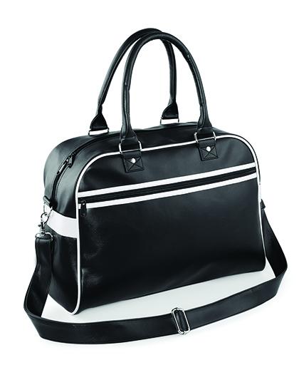 BagBase Original Retro Bowling Bag Barva: black/white, Velikost: 45 x 32 x 20 cm G_BG95