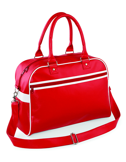 BagBase Original Retro Bowling Bag Barva: Classic Red/White, Velikost: 45 x 32 x 20 cm G_BG95