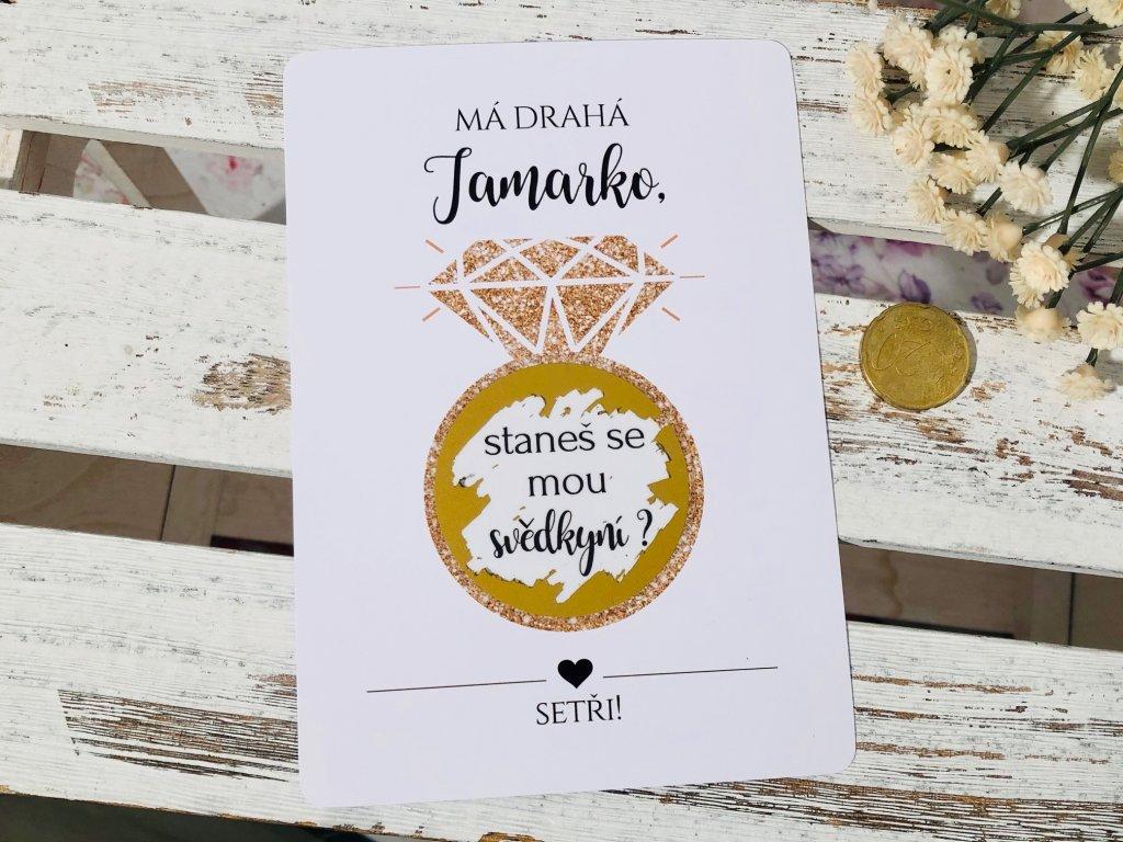 Stírací karta se zlatým prstenem
