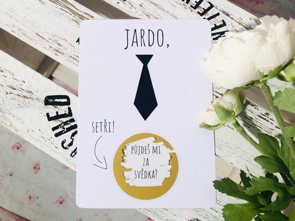 Stírací kartička Kravata