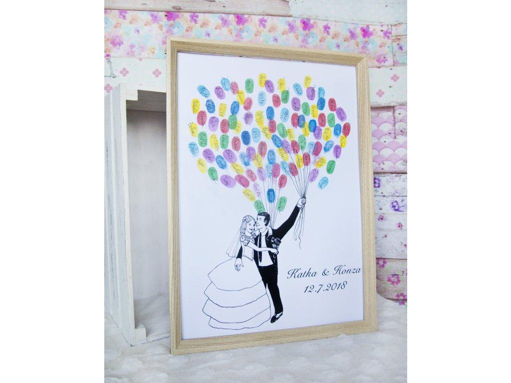 Svatební strom - ženich s nevěstou