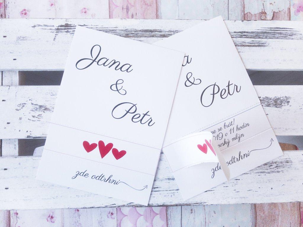 Originální trhací svatební oznámení