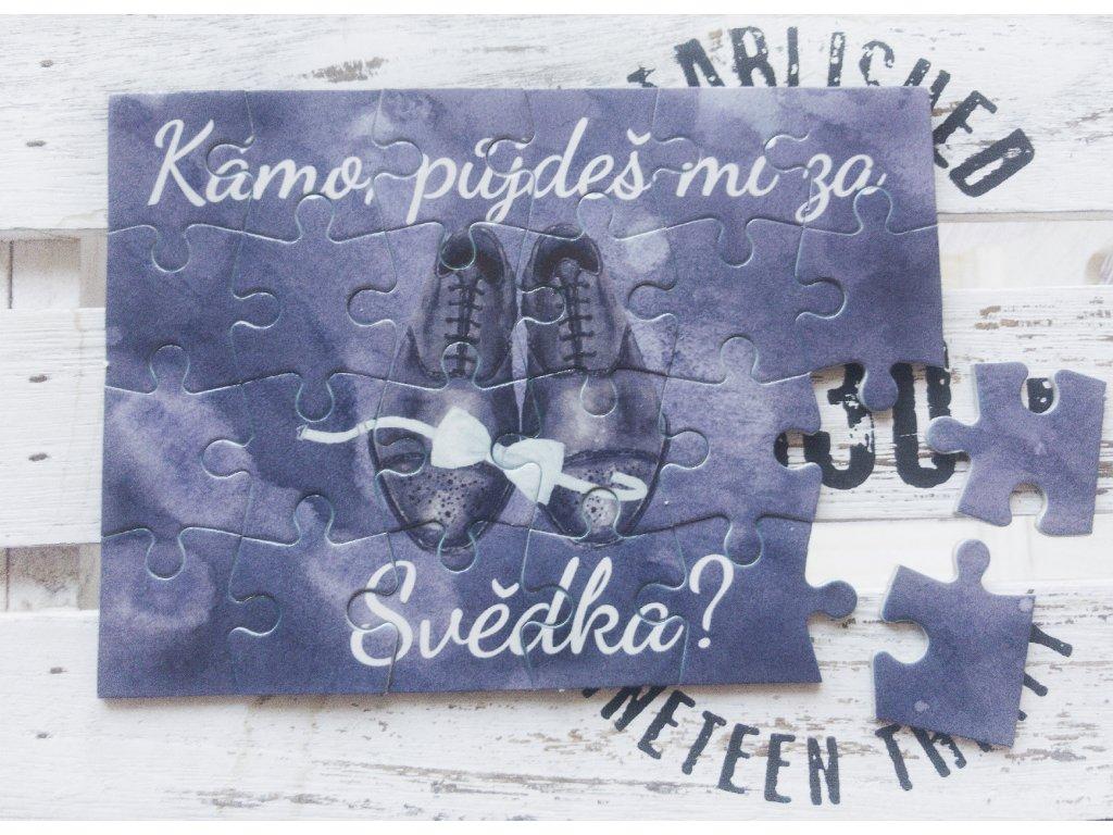 Puzzle pro svědka boty s motýlkem