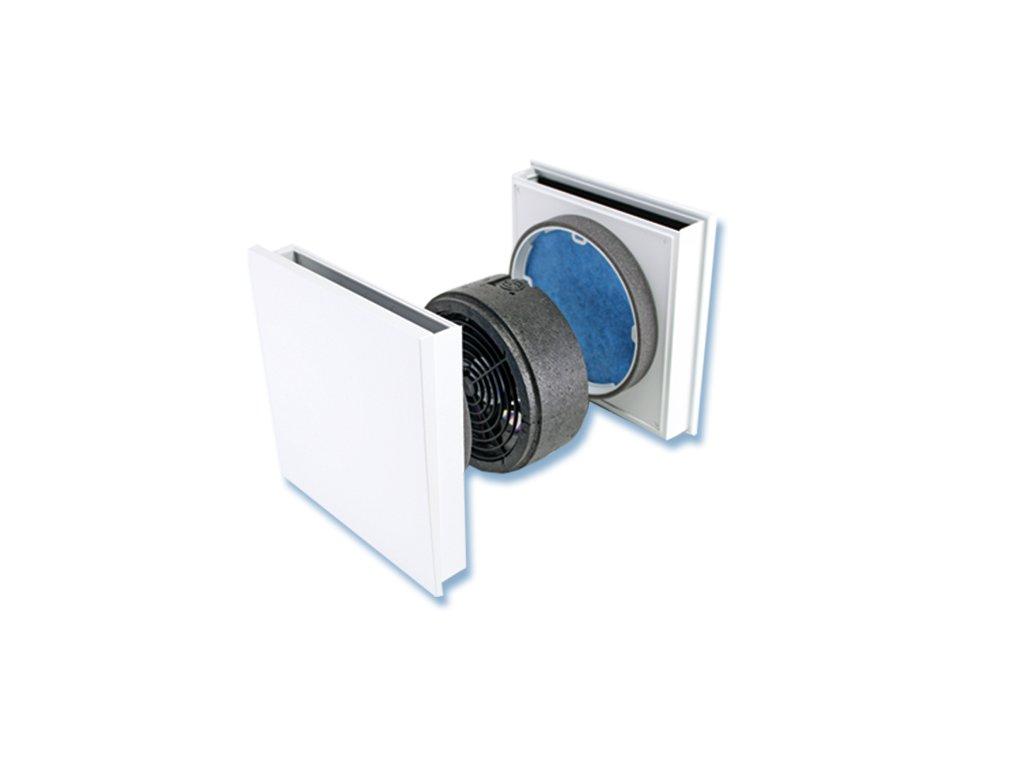 Decentrální větrací jednotka SEVi 160R - přepouštěcí ventilátor SEVentilation