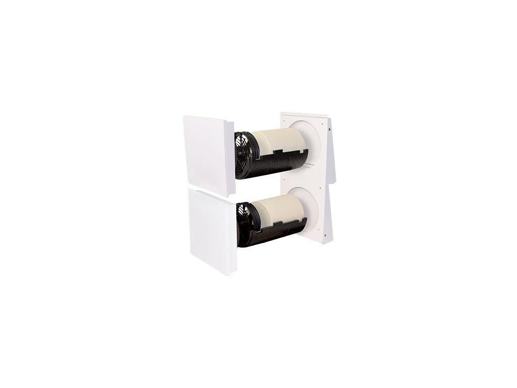 Decentrální rekuperační jednotka SEVi 160 Duo venkovní kryt bílý