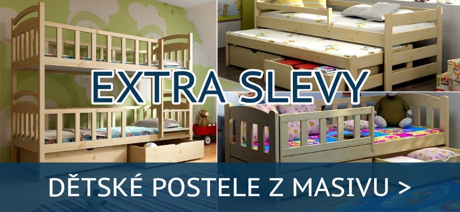 Dětské postele z masivu za akční ceny